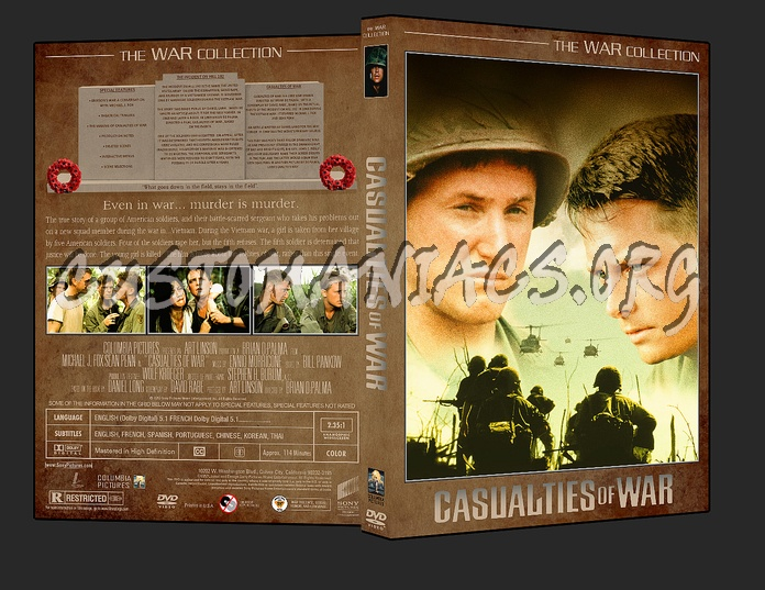 War Collection Casualties of War dvd cover