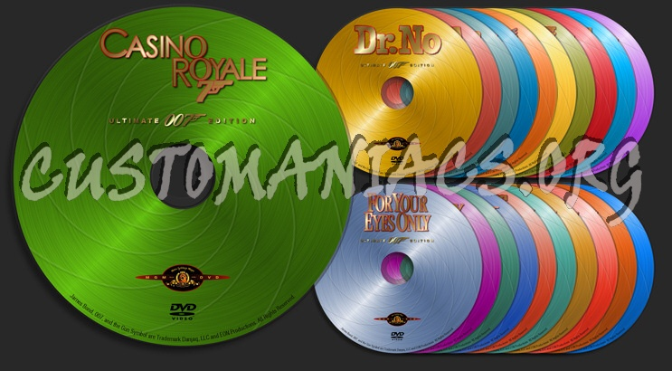 007 - James Bond dvd label