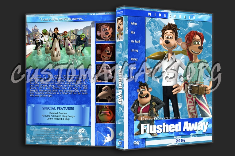 Flushed Away 2006 Dvd Cover Dvd Covers Labels By Customaniacs Id 116387 Free Download Highres Dvd Cover