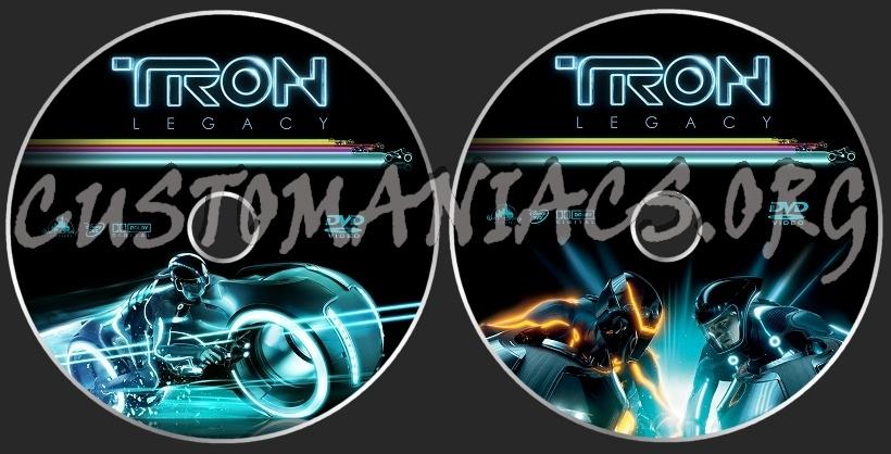 TRON Legacy dvd label
