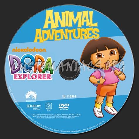 Dora The Explorer Animal Adventures Dvd Label Dvd