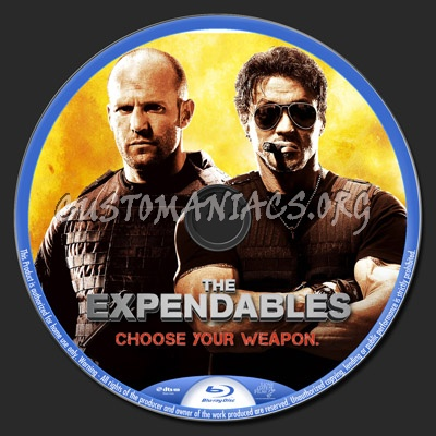The Expendables blu-ray label