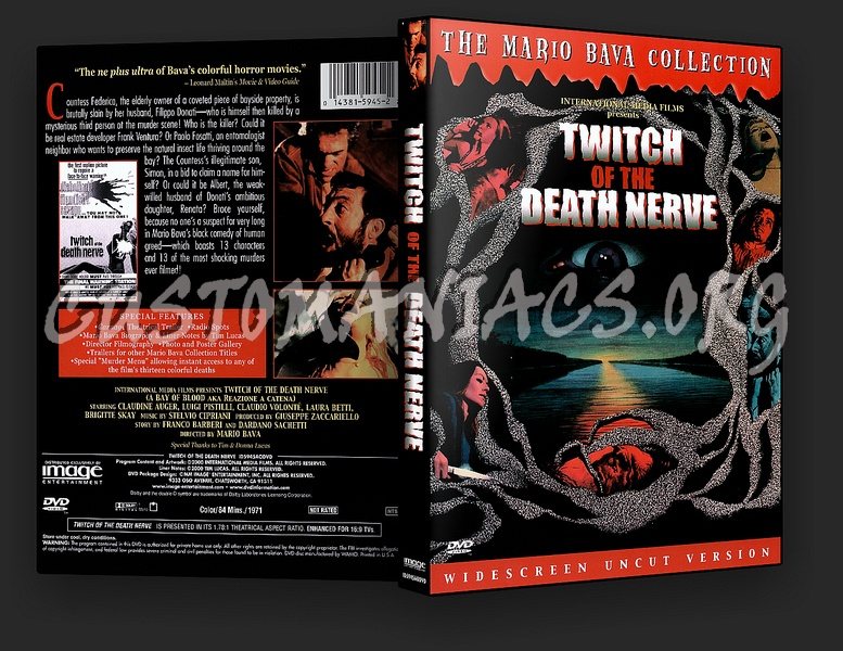Twitch of the Death Nerve aka Bay of Blood dvd cover