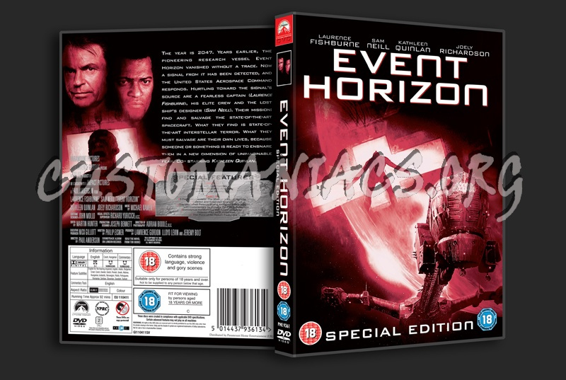 Event Horizon Dvd Cover Dvd Covers Labels By Customaniacs Id
