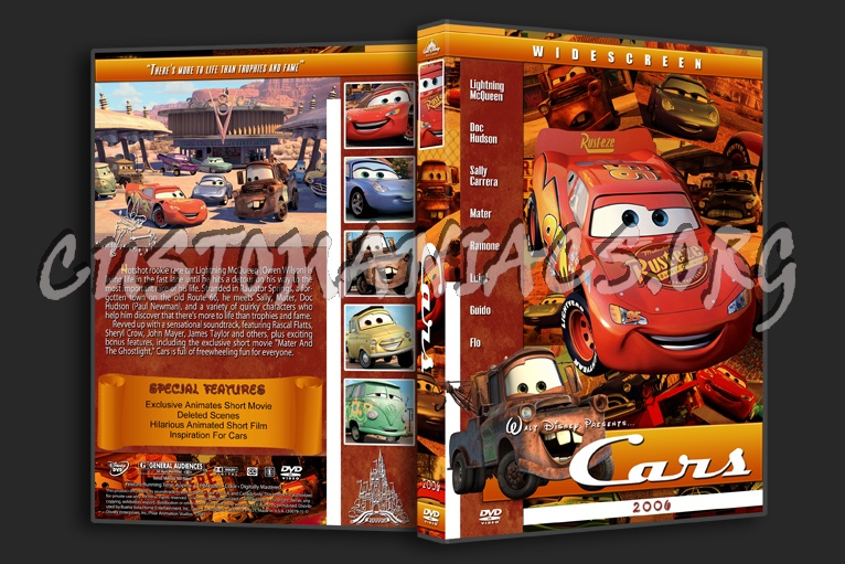 Cars 2006 Dvd Cover Dvd Covers Labels By Customaniacs Id