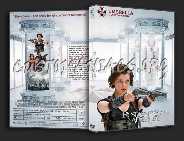 Resident Evil Afterlife dvd cover
