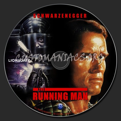 The Running Man blu-ray label