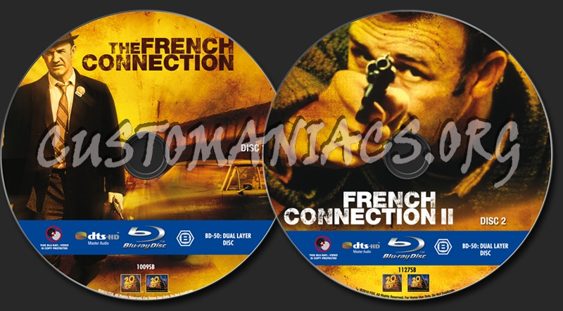 The French Connection /  French Connection 2 blu-ray label