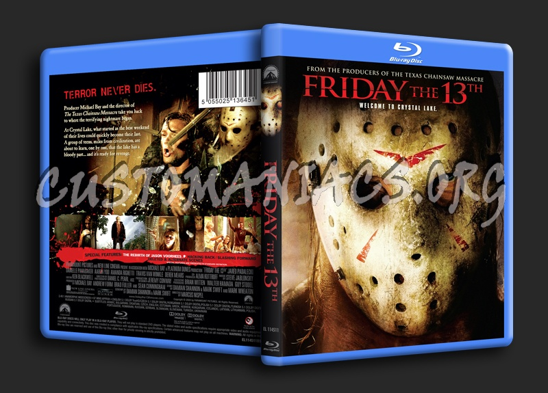 Friday the 13th (2009) blu-ray cover