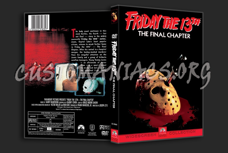 Friday the 13th The Final Chapter dvd cover
