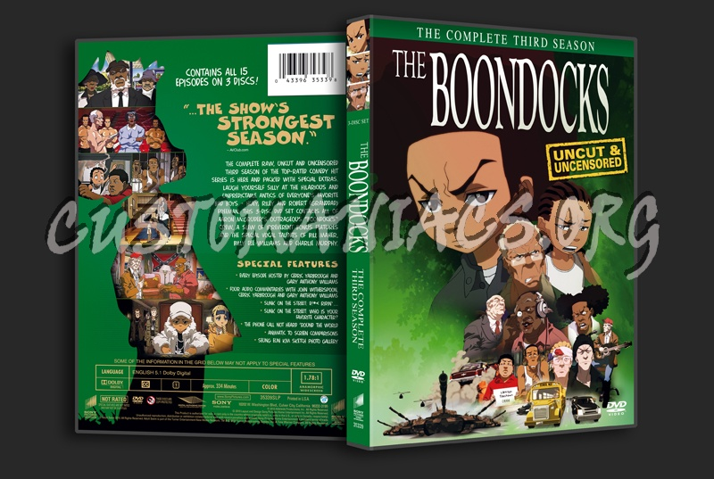 The boondocks season 3 dvd cover dvd covers labels by customaniacs id 117392 free download - Boondocks season download ...
