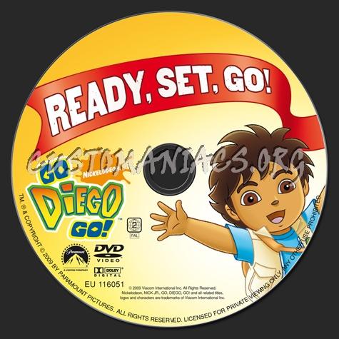 Go Diego Go! Ready, Set, Go! dvd label