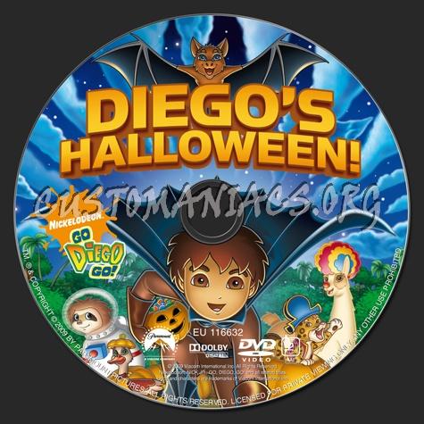 go diego go diegos halloween dvd label