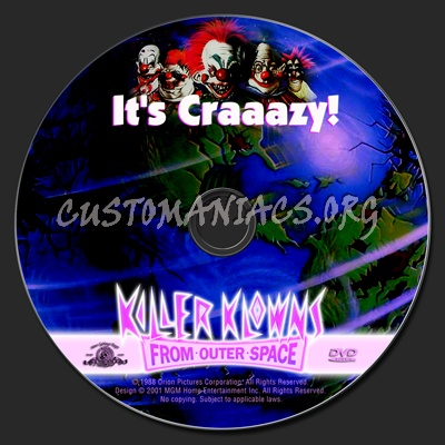Killer Klowns from Outer Space dvd label