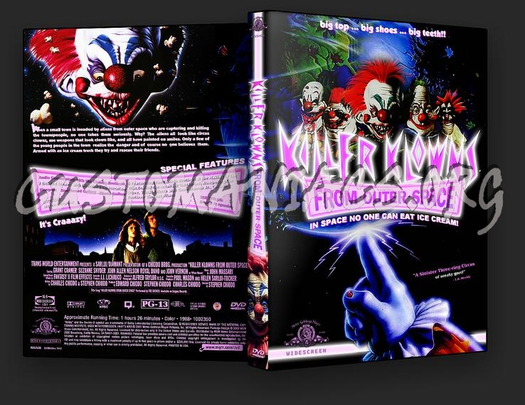 Killer Klowns from Outer Space dvd cover