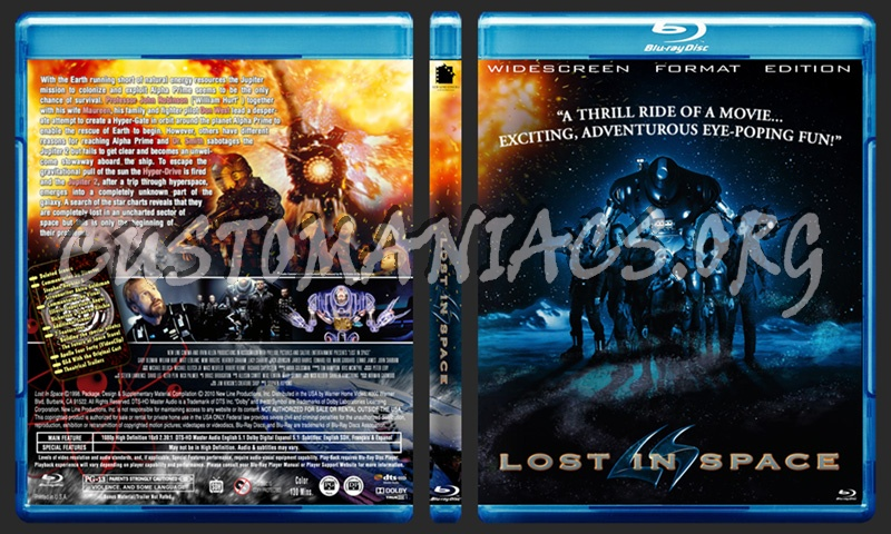 Lost In Space blu-ray cover