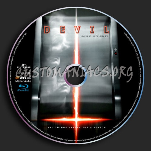 Devil blu-ray label