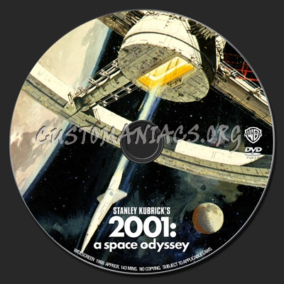 2001 A Space Odyssey dvd label