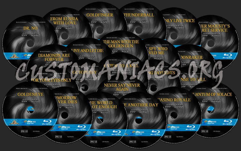 007 James Bond Collection blu-ray label