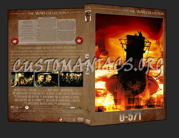 War Collection U-571 dvd cover