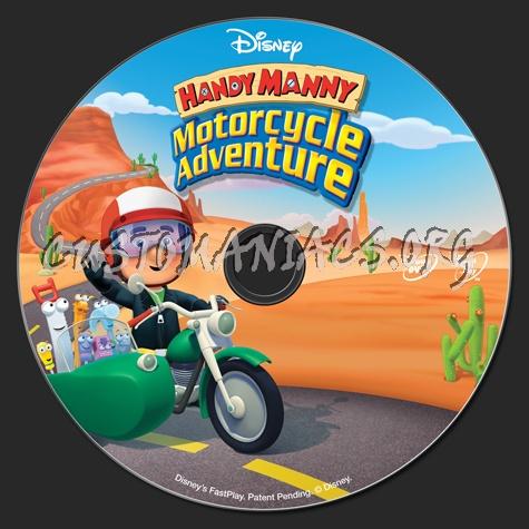 Handy Manny Motorcycle Adventure dvd label