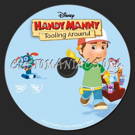 Handy Manny Tooling Around dvd label