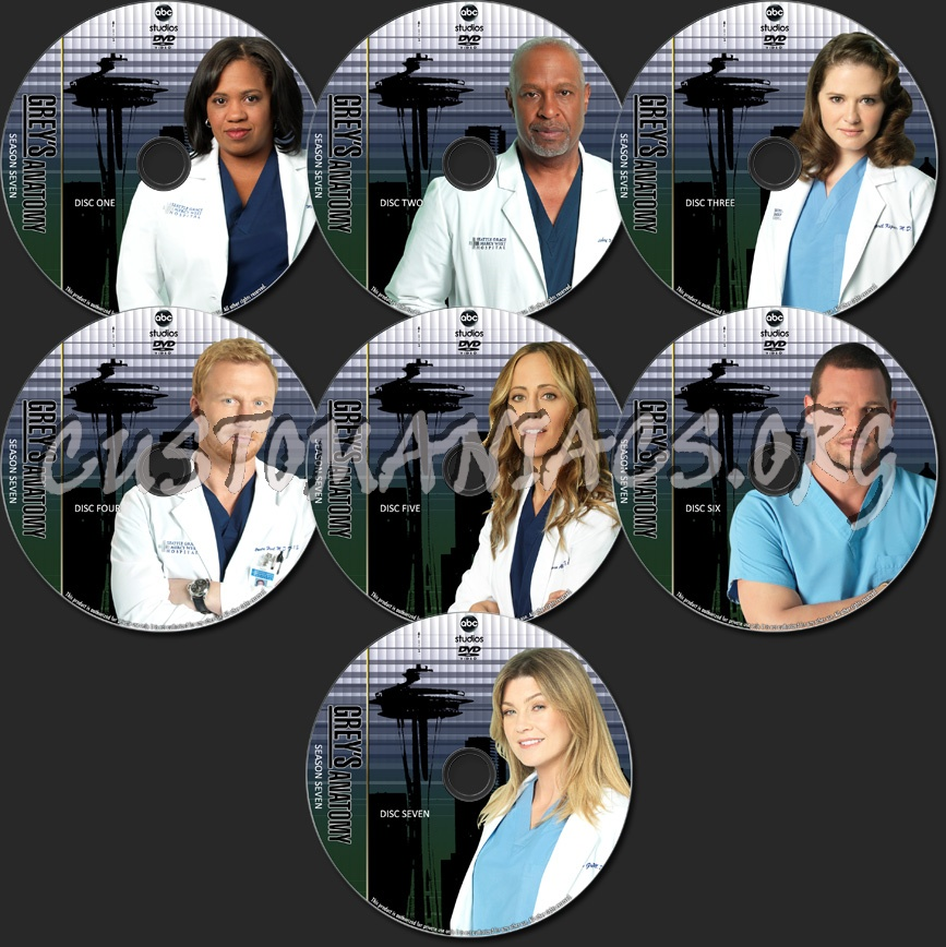 Greys Anatomy Tv Collection Season Seven Dvd Label Dvd Covers