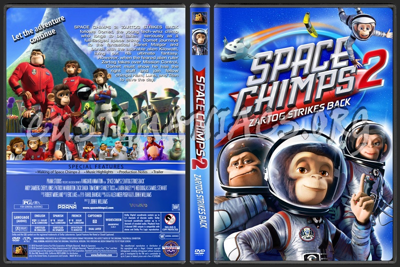 Space chimps 2: zartog strikes back dvd label dvd covers.