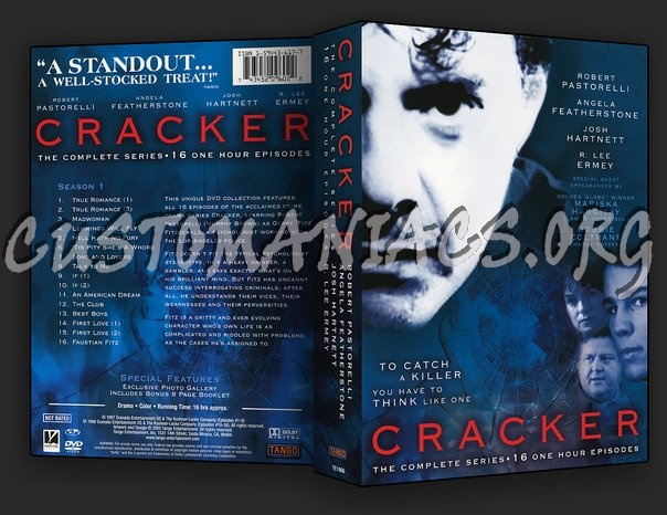Cracker The Complete Series dvd cover