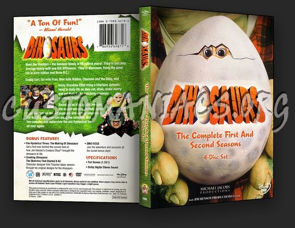 Dinosaurs The Complete First and Second Seasons dvd cover