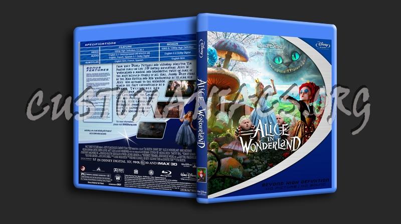 Alice In Wonderland blu-ray cover