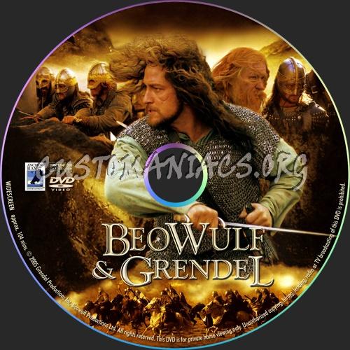 Beowulf & Grendel dvd label