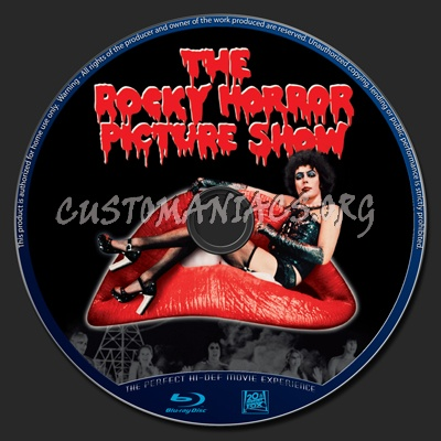The Rocky Horror Picture Show blu-ray label