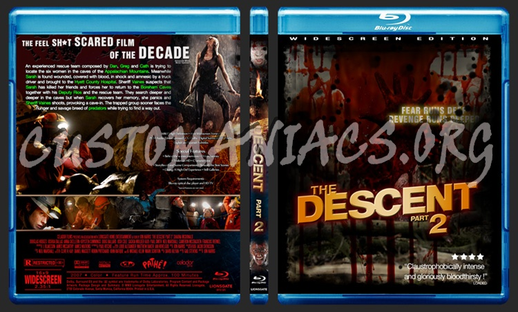 The Descent Part 2 blu-ray cover - DVD Covers & Labels by