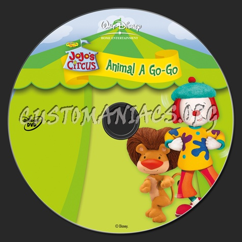 Jojo's Circus Animal A Go-Go dvd label