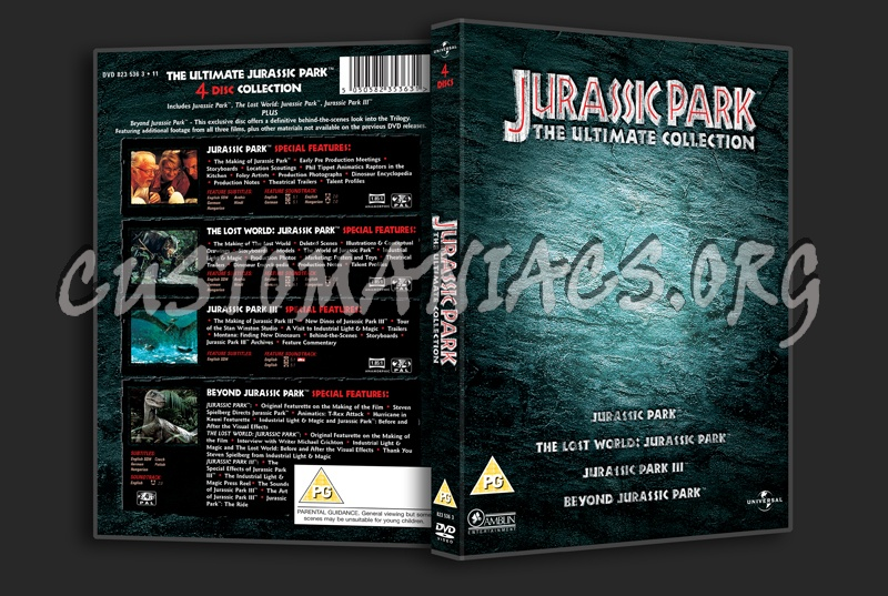 Jurassic Park The Ultimate Collection dvd cover
