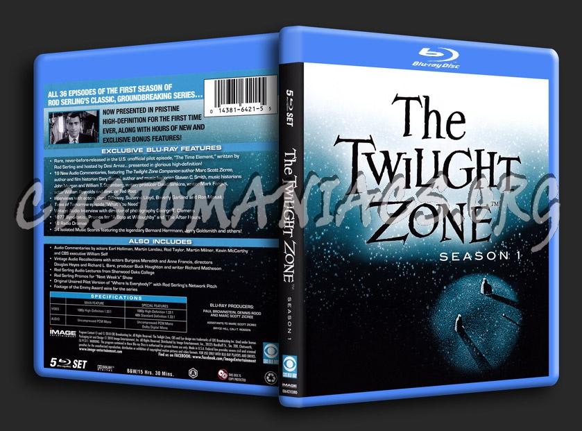 The Twilight Zone Season 1 blu-ray cover