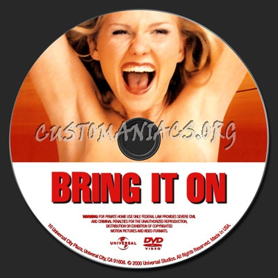 Bring It On dvd label