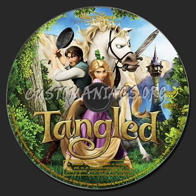 Tangled dvd label