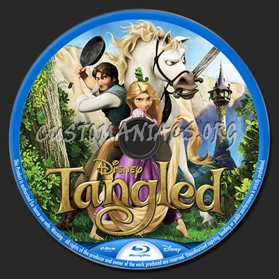Tangled blu-ray label