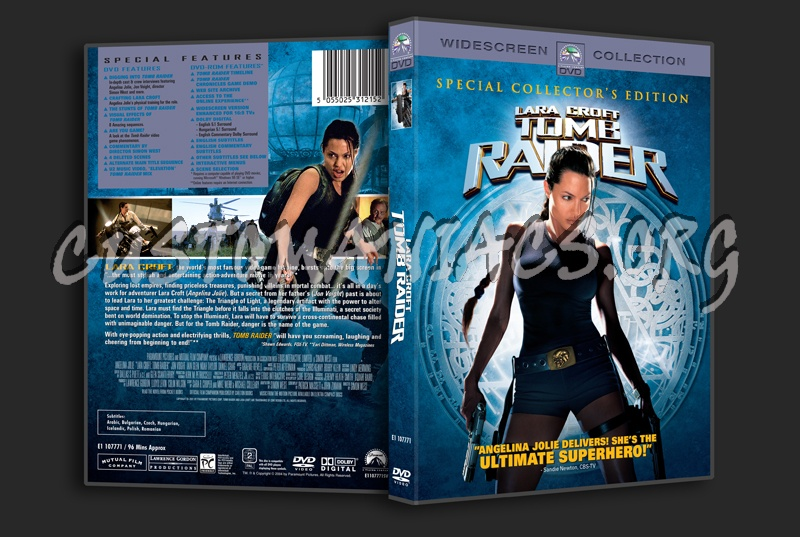 Lara Croft Tomb Raider Dvd Cover Dvd Covers Labels By