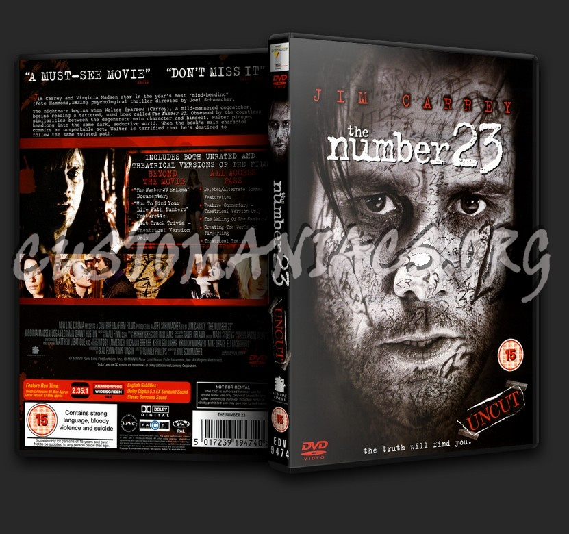 The Number 23 dvd cover