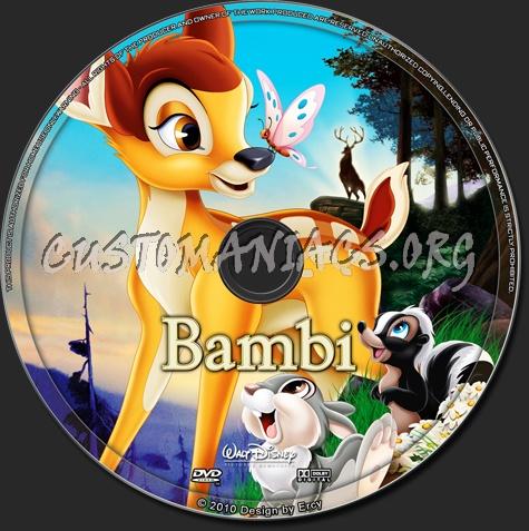 Bambi dvd label