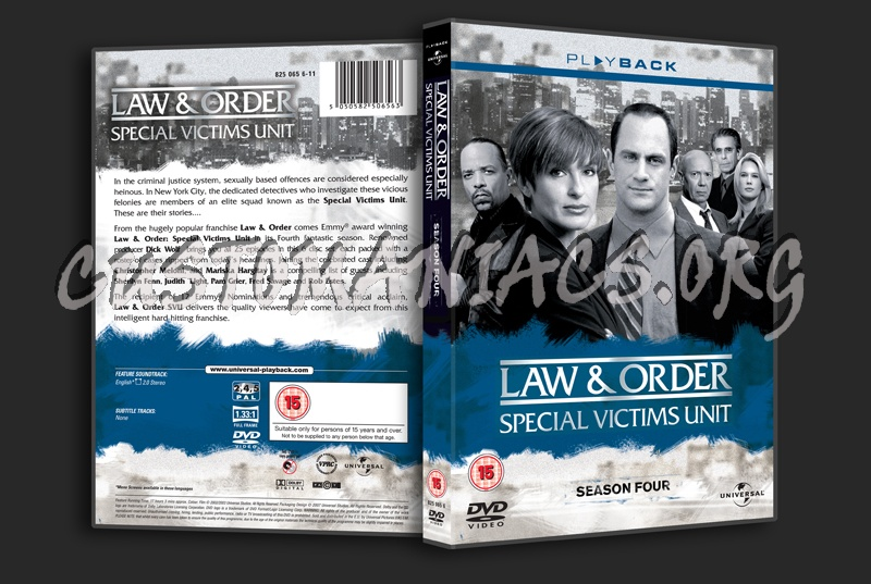 Law & Order Special Victims Unit Season 4 dvd cover