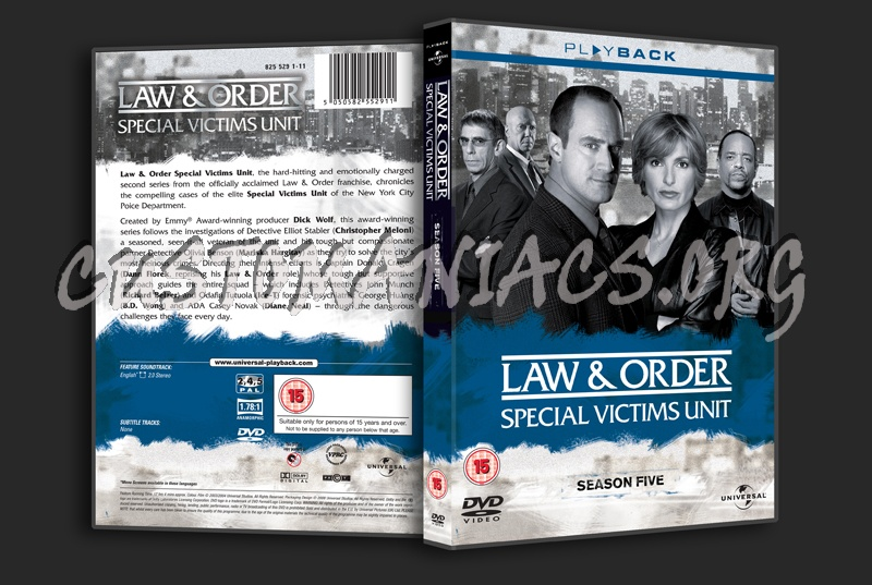 Law & Order Special Victims Unit Season 5 dvd cover