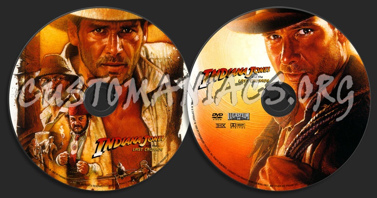 Indiana Jones and the Last Crusade dvd label