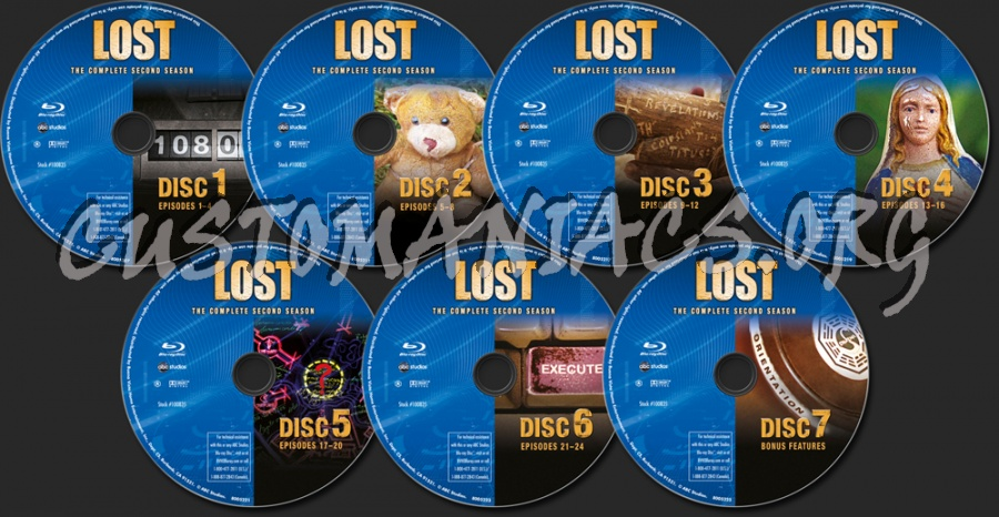 Lost Season 2 blu-ray label - DVD Covers & Labels by Customaniacs