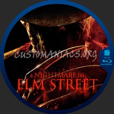 А Nightmare on Elm Street blu-ray label