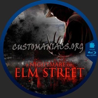 А Nightmare on Elm Street blu-ray label