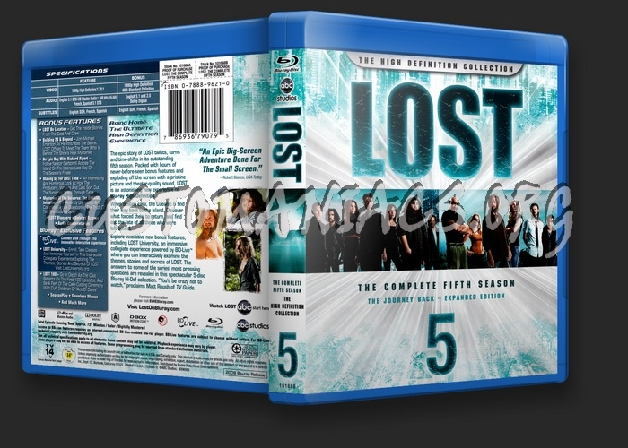Lost Season 5 blu-ray cover